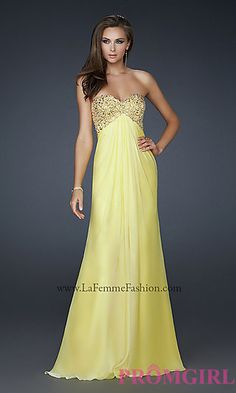 Strapless Sweetheart La Femme Dress at PromGirl.com