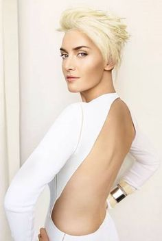 Kate Winslet pixie cut. SO much hotter than before! Let this be a lesson to you, short hair haters.
