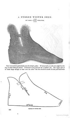 The Peterson Magazine, January 1, 1859: Oh, look, ugly furry boots were popular with our ancestors too.