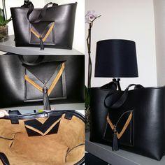 Coucou, voici le dernier sac laurenElegance . C'est un cabas noir bi matière. Avec deux poches . Il est petit très craquant !!! Un cadeau pour la saint Valentin. 50€ H:28 L:38 p:10   &...