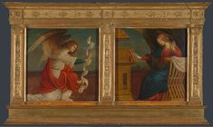 Gaudenzio Ferrari, Panels from an Altarpiece: The Annunciation, before 1511