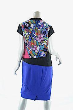 Etro short dress Red, Blue, White, Black, Multi Silk Blend Color Block on Tradesy
