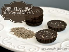 Salty dark chocolate treats