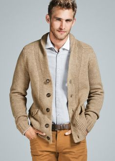 I love men in sexy sweaters. This says I am comfortable and warm and don't care that I'm wearing a cartigan.