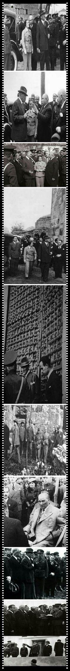 20yıl sonra Cumhurbaşkanımız olarak Güneydoğu illerini dolaşmak üzere seyahate çıkan Ata'mız, 15.11.1937 günü Diyarbakır'a gelmişler.