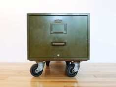 Vintage OS-M-CO FIling Cabinet on Casters