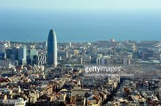 Stock Photo : Barcelona - landscape with Agbar Tower