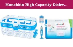 Munchkin High Capacity Dishwasher Basket with Soap Dispensing Bottle Brush & Sterilizer Bag. The Munchkin High Capacity Dishwasher Basket makes cleaning baby accessories hygienic and hassle-free. The straw cleaning rack holds the accessories up right. The two cleaning racks can contain 8 straws, while the nipple sanitizing lid can hold 14 nipples. Fits in dishwashers of all sizes and shapes and snaps tight with the lid to make the accessories stay in place. It comes with Soap Dispensing...