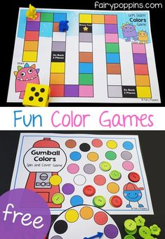 Color games and color sorting activities for kids, to help them identify colors. The activities include both an American and Australian spelling version. Physical Education Activities, Early Learning Activities, Preschool Learning, Autism Activities, Educational Games For Preschoolers, Games For English Class, English Activities For Kids, Kindergarten Colors, Kindergarten Activities