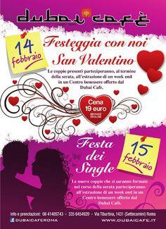San Valentino al Dubai Cafè di Roma: ecco il comunicato stampa ufficiale pubblicato su Comunicati 2012