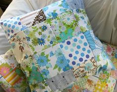 Cushion  Made with Vintage Sheets