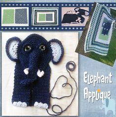 Adorable Elephant Applique from Grammy's Heart, with Love!