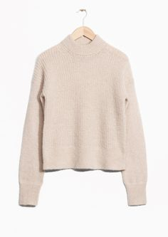 & Other Stories image 1 of Wool & Mohair Jumper in Light Beige