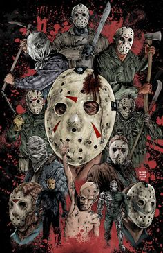 The many faces of Jason Voorhees