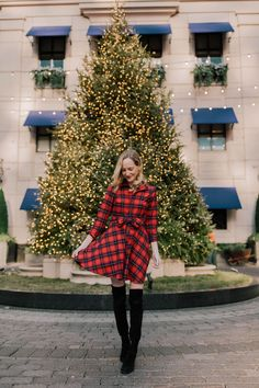 KJP Dress / Similar (Waterproof!) Boots / Tote / Wool Trench Coat  Mitch here!  I can't believe it's Christmastime. I'm freakin' out, guys. You see, I'm a Christmas junky. I intend on wassailing around the city with a belly full of eggnog for the next month. I'll give you the rundown:      Favorite Movie: It's a Wonderful Life  Song: Nat King Cole's The Christmas Song (Shoutout to Bublé for his Christmas Album,