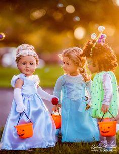 "Princess Anya Dress 18"" Doll Clothes Pattern | Turn your American Girl into a princess like Cinderella!"