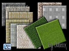 Terrains, floors and house by Oldbox at All 4 Sims • Sims 4 Updates