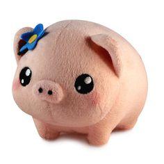 Pig kawaii plush stuffed toys - cuddly and furry friends Softies, Plushies, Cute Stuffed Animals, Cute Animals, Kawaii Cute, Kawaii Pig, Kawaii Stuff, Squishy Kawaii, Kawaii Felt