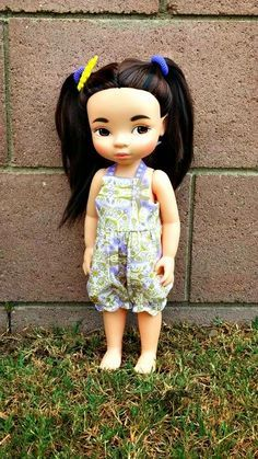 Dolls and Pretty Things: Doll Make Over: Disney Animator's Mulan Update Disney Toddler Dolls, Reborn Toddler Dolls, Disney Dolls, Mulan Doll, Disney Animator Doll, Tiana, Newberry Dolls, Aladdin, Girl Dolls