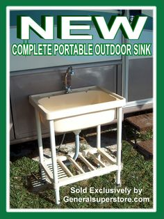 Vintage Portable Outdoor Sink Garden Camp Kitchen Camping RV for sale