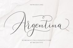 Argentina Script by Megatype on @creativemarket