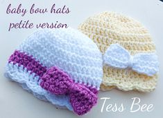 Baby Bow Hat Baby Girl Hat Bow Beanie Photo Prop Baby Girl   Etsy Baby Girl Hats, Girl With Hat, Baby Bows, Crochet Round, Crochet Hats, Dr Brown Bottles, Bee Design, Twin Babies, Cute Bows