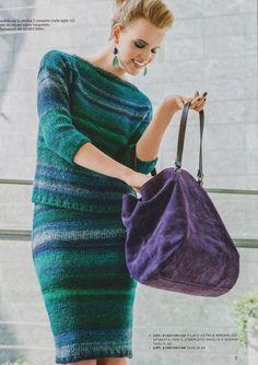 Костюм из пуловера и юбки секционной пряжей. Обсуждение на LiveInternet - Российский Сервис Онлайн-Дневников