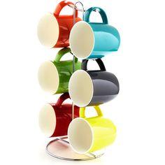 Rainbow-licious Mug Set; I just want the stand...