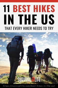 Knowing the best hikes in the U.S. is the best way to ensure you have fun on your hiking trip. Besides knowing the trails near you, you also learn the hiking difficulty of each to match your experience. Check out this roundup on the most popular hiking trails. #hikingtrails #hiking #hikingtips #outdoorsurvival #outdoor #survivallife Camping Lunches, Camping Life, Camping Hacks, Survival Life, Wilderness Survival, Hiking Tips, Best Hikes, Outdoor Survival, Trail