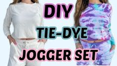 DIY TIE DYE JOGGER SET || HOW TO - YouTube Tie Dye Kit, Makeup Is Life, Make Your Own Clothes, How To Dye Fabric, Diy Clothing, Fashion Lookbook, Latest Fashion, The North Face, Joggers