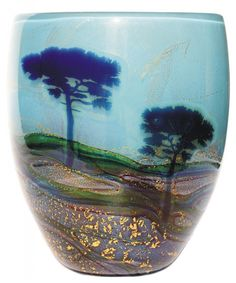 Azure core shard graal trees | ORDER-Graal-one-off-pieces-available-made-to-order | J H Studio Glass