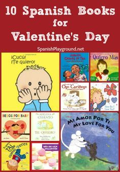 Share these Spanish and bilingual books with kids on Valentine's Day. Spanish+Valentine+Books+for+Kids
