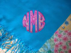 Lilly monogrammed pashmina!!!