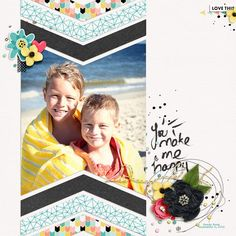 Happy by Jenn Marione | jk703 Hello Friend Papers and Elements by Amber LaBau Designs - http://the-lilypad.com/store/Hello-Friend-Papers.html & http://the-lilypad.com/store/Hello-Friend-Elements.html Memory Pockets Monthly - Hello (Feb 2015) by The Lilypad Designers - http://the-lilypad.com/store/Memory-Pockets-Monthly-HELLO.html Scrapping with Liz - Free Template May 2015 (Recyclables 41) Font is Special Elite. TFL!
