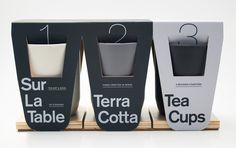 This is a concept project for Sur La Table's new Terracotta product line. The packaging is designed to bring 3 breakable glasses together by using recyclable material while protecting and keeping the glasses intact. Each tea cup comes with a surprise bene…