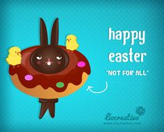 Happy easter. #card #easter #spring #xocolate #rabbit