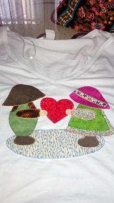 Camiseta Sue patchwork