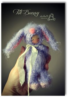 Titi Bunny, by LesPouPZ Handmade Dolls. In the Titi series, this lop eared Bunny makes me smile, it's so soft!