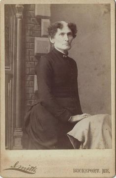 "A handwritten note on the back of the photo says: ""Aunt Velma, she never married."" 1888.   Oh dear."