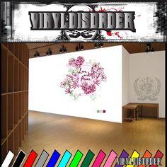 Love and peace flowers Royal designs Beauty Queen Wall Decal - Vinyl Sticker - Car Sticker - Die Cut Sticker - SM020