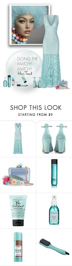 """Matchy Hair Trend"" by sherry7411 on Polyvore featuring beauty, BCBGMAXAZRIA, Valentino, Sophia Webster, Matrix Biolage, Bumble and bumble, Sachajuan, L'Oréal Paris, hairtrend and rainbowhair"