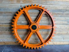 Vintage Industrial Wooden Gear | Vintage Industrial Furniture