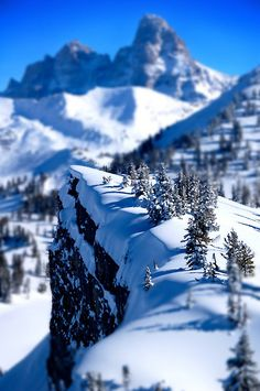 Grand Teton Tilt Shift by thombo2, via Flickr -- This is just So Amazing!! Looks like a miniature scene on top of a slice of cake; unreal!