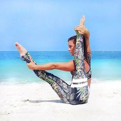 Tropical yoga with a beautiful yoga girl.| www.strongerlabel... #fitnesstights.... >> Check out more at the image link