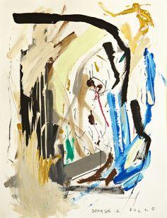 """Saatchi Art Artist: Mathieu Bernard-Martin; Mixed Media 2012 Painting """"Django S. BULLS"""""""