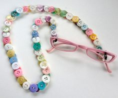A chain for your sunglasses or reading glasses in lovely pastel shades. Etsy.