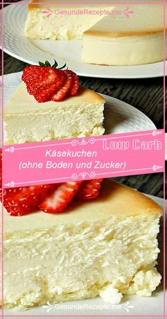 Low carb version cheesecake (without ground and sugar) - Low carb version chees. - Low carb version cheesecake (without ground and sugar) – Low carb version cheesecake (without gr - Paleo Dessert, Healthy Dessert Recipes, Baby Food Recipes, Low Carb Recipes, Smoothie Recipes, Desserts, Smoothie Detox, Protein Smoothies, Protein Snacks