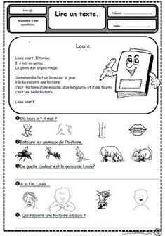 Un texte, 3 questions, lire, lecture, compréhension