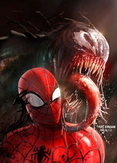 The Spider-Web — Spidy Venom by Mystic-Oracle Nightwing, Batwoman, Marvel Comics, Marvel Heroes, Spiderman Art, Amazing Spiderman, Venom Spiderman, Marvel Comic Character, Marvel Characters