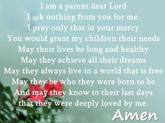 Prayer for my children...I love each of my five children with all my heart.